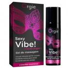 Стимулирующий гель-смазка Orgie Sexy Vibe Intense Orgasm с покалывающим, разогревающим и охлаждающим эффектом 15 мл