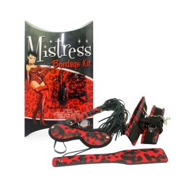 Бондажный набор Mistress Bondagу красный леопард