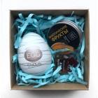 Подарочный набор яйцо Tenga, массажная свеча и возбуждающие капли