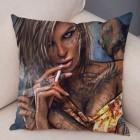 Наволочка на подушку Smoking Girl