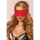 Красная мягкая маска на глаза с кружевом Lovely Lace