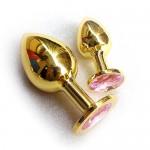 Анальное украшение Golden Plug Small нежно-розовый
