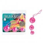 Три розовых вагинальных шарика Orgasm balls