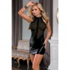 Платье с прозрачным бюстом wetlook OS