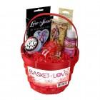 Красная подарочная корзинка Basket of Love