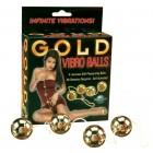 Четыре вагинальных шарика с вибрацией Gold Vibro Balls Set