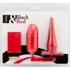 Виброяйцо и анальная втулка с дистанционным управлением красный